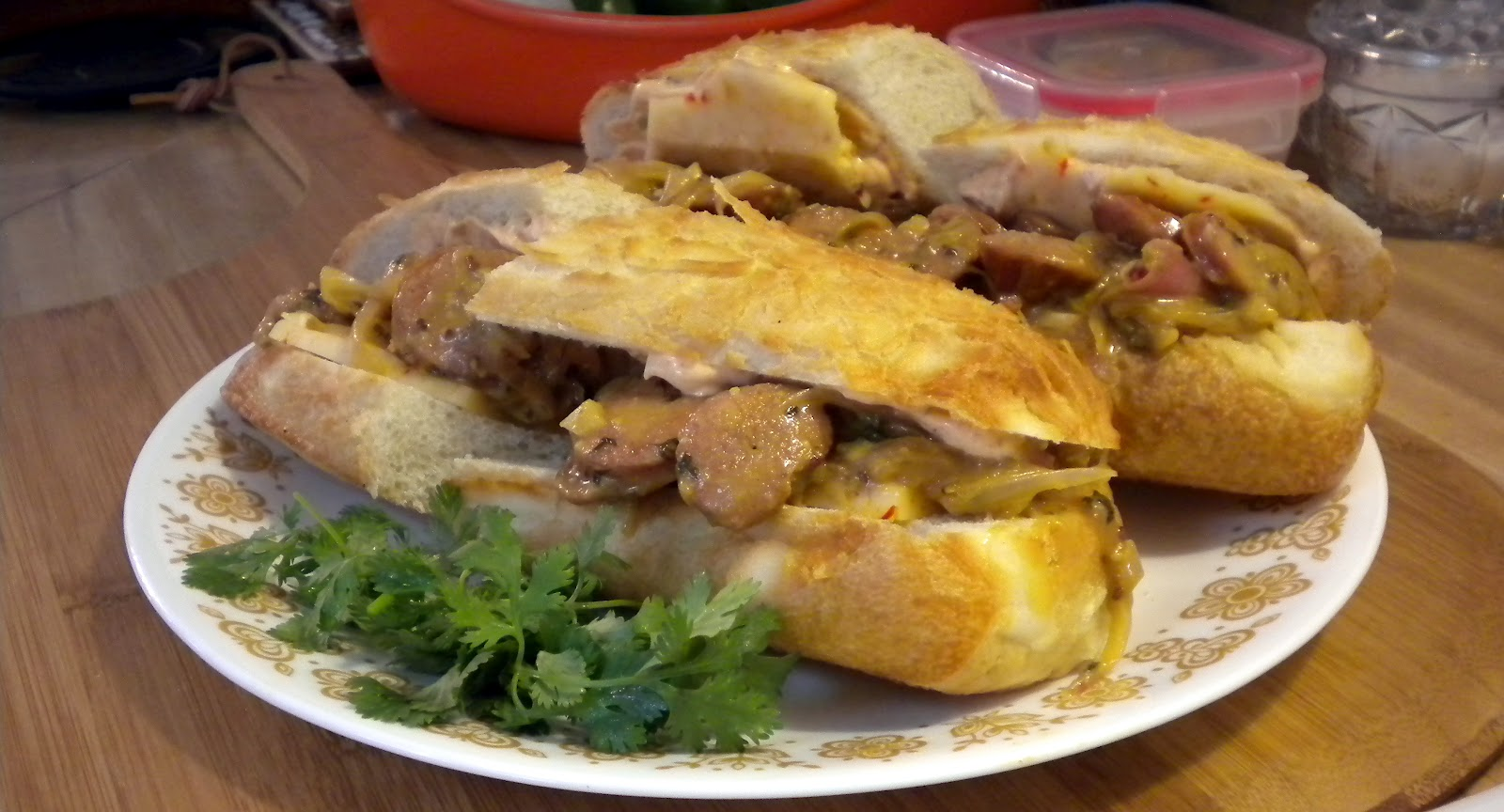 Cooking for Zo: Francis' Andouille Po'boy