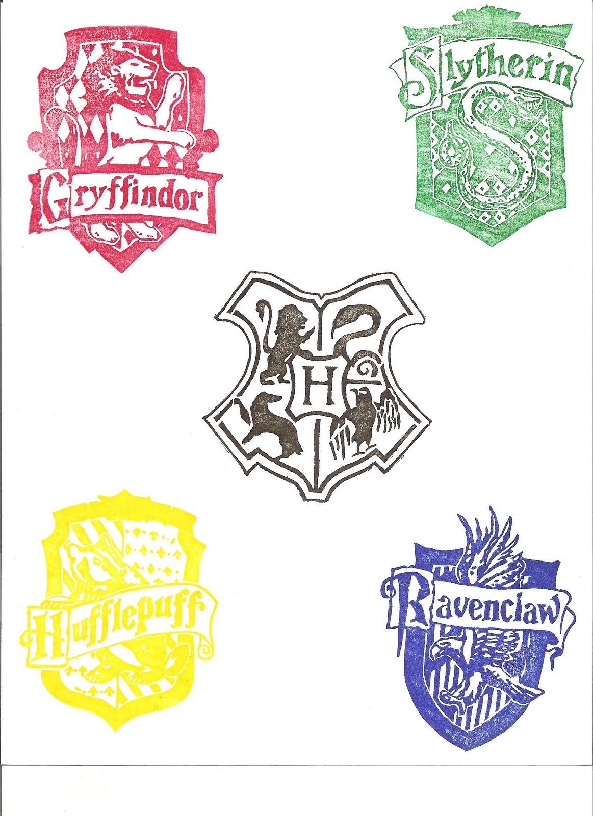 Naphtali's Melody: Harry Potter Party: The Stamps