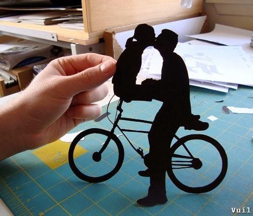 Cắt giấy thủ công tình yêu độc đáo - hình 2
