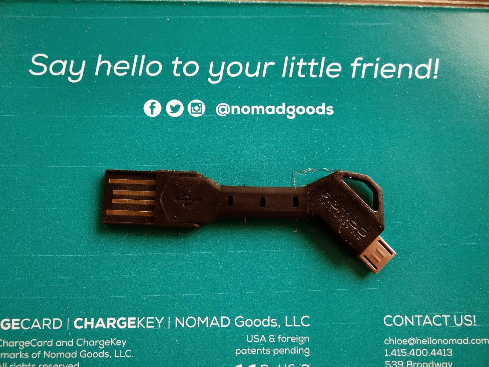 Nomad Charge Key, universal USB cable, short USB cable