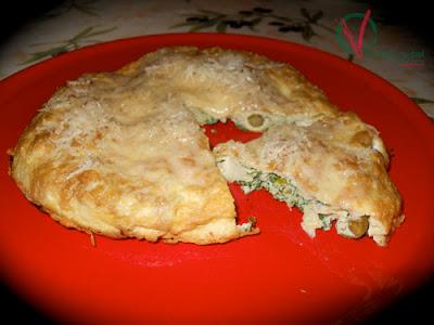 Tortilla de alcachofas y perejil.