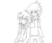 #9 Jaden Yuki Coloring Page