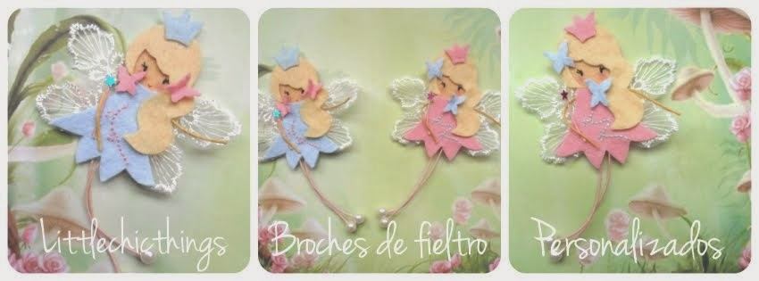 Little Chic Things Broches de Fieltro