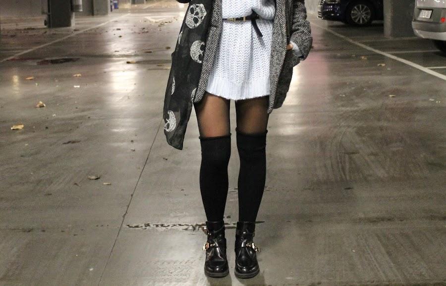 jersey con calcetin alto