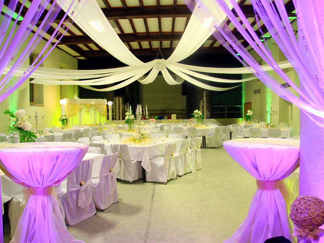 The best wedding hall decoration ideas wedding for Net decoration ideas