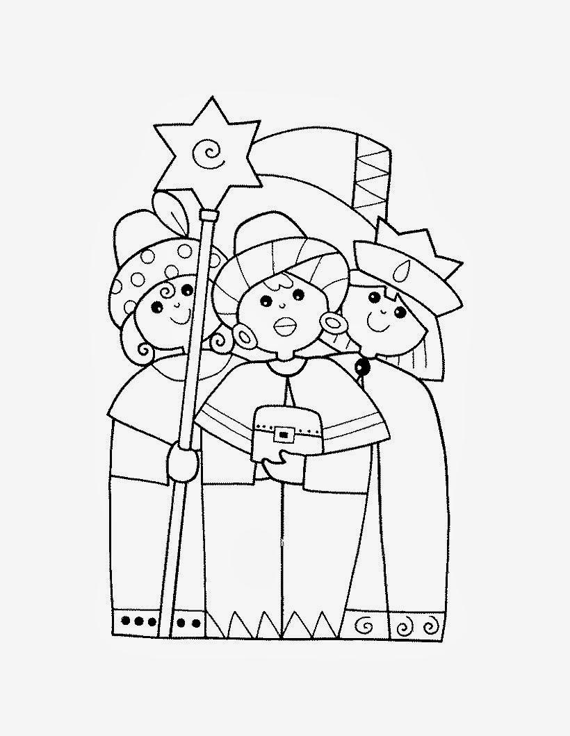 Maestra de Infantil: Reyes Magos para colorear