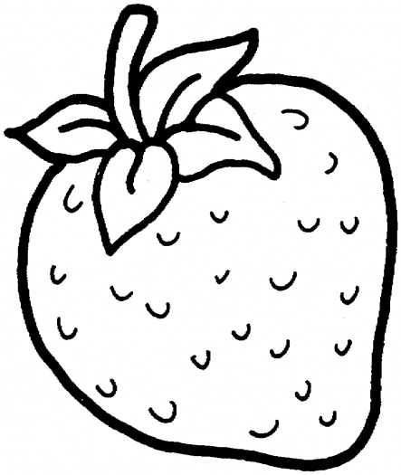 Free Coloring Pages Printable Strawberry Coloring Pages  : StrawberryColoringPages05 from coloringpagesprintable.blogspot.com size 443 x 525 jpeg 60kB