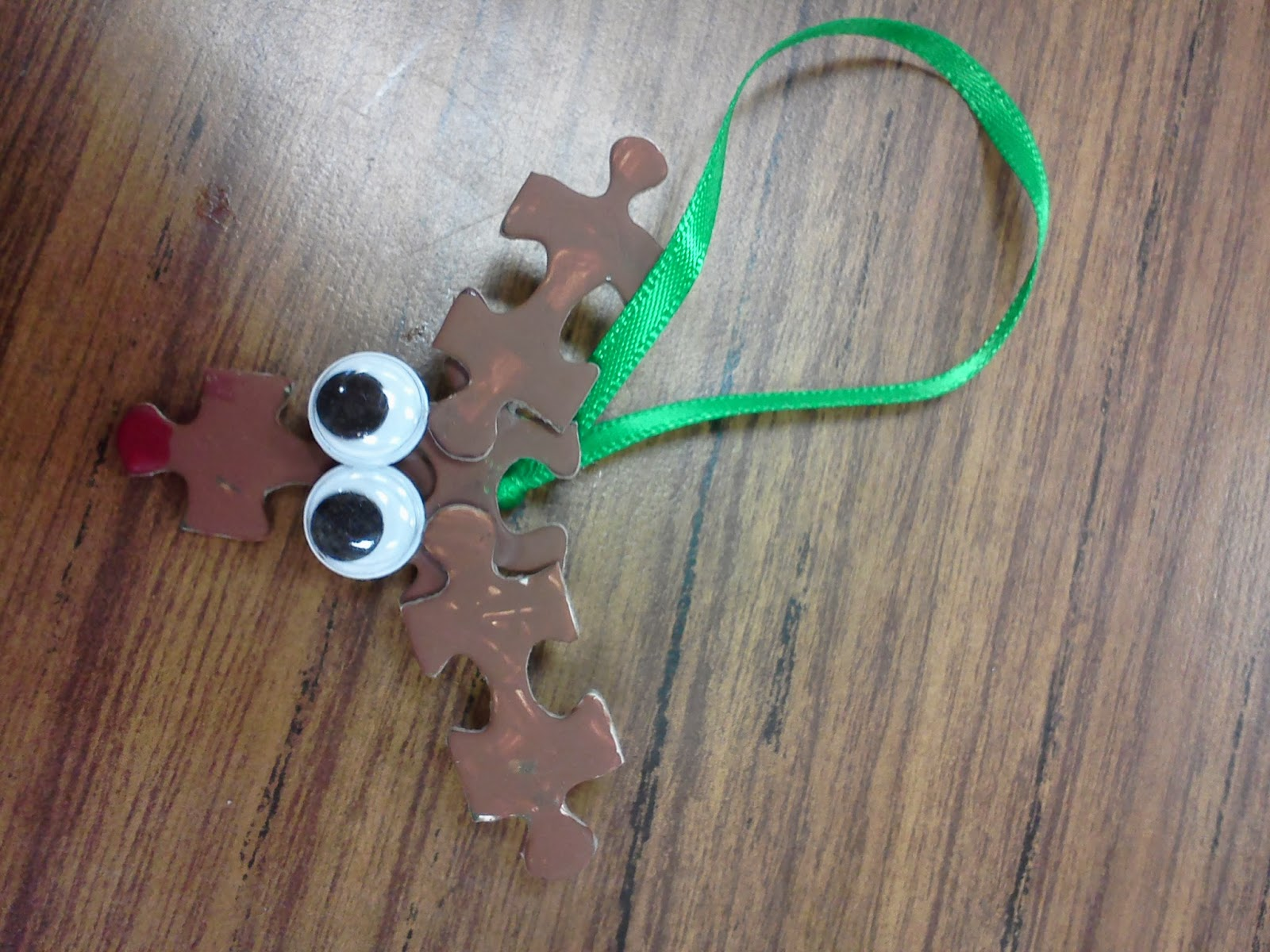 Christmas Craft Ideas For 2nd Graders Part - 44: Classroom Christmas Ornament Rudolph Puzzle Ornament