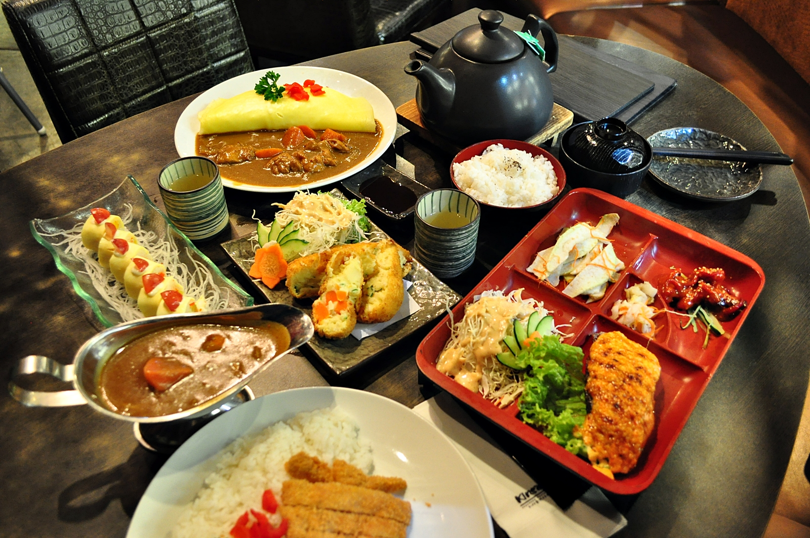 Different angle japanese cuisine for Asian food cuisine