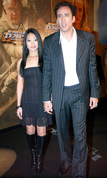 Nicolas Cage and Wife