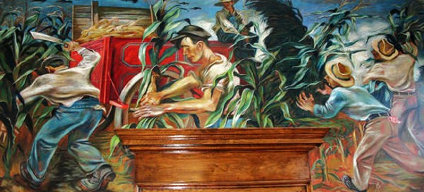 It 39 s about time 1930s america 39 s great depression joe for Mural joe painting