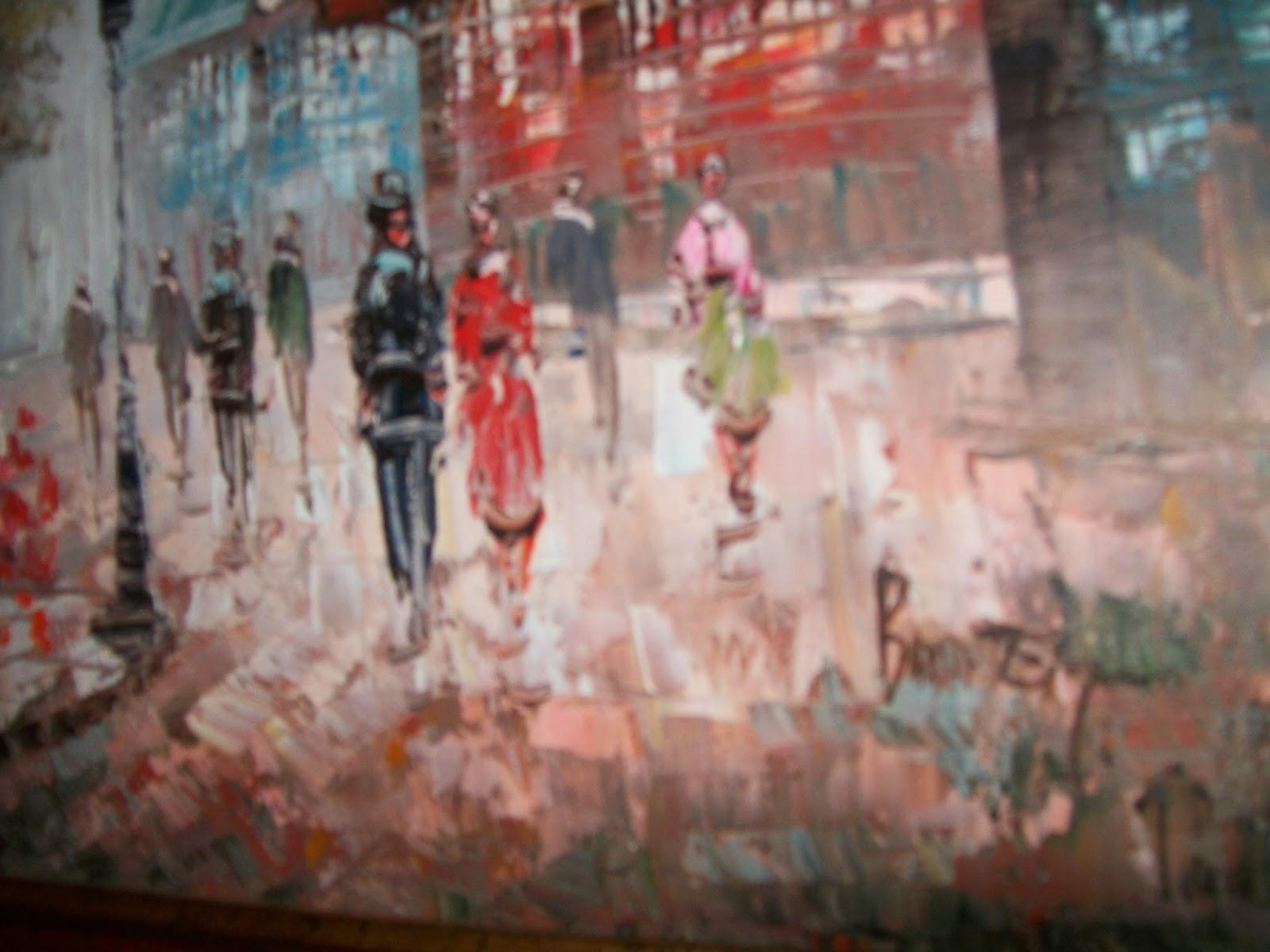 Calogilou le champi tableaux peintures hst tour eiffel - Peintre burnett estimation ...