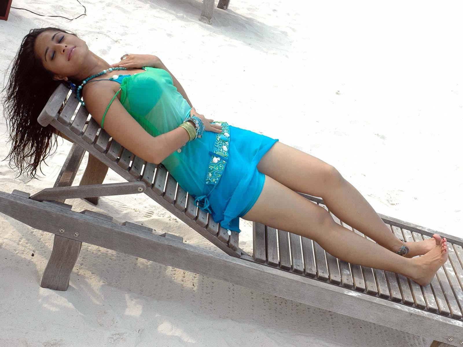Bikini in anushka shetty sleeping, moms tan lines