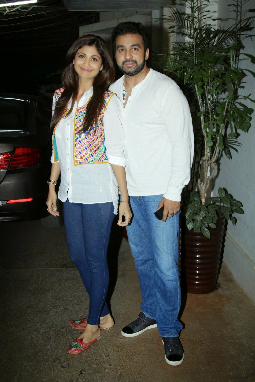 Shilpa Shetty along with her husband Raj Kundra