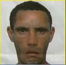 Retrato falado do suspeito de ser sequestrador de Brenda Gabriela