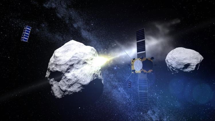 Intentarán desviar un asteroide golpeándolo con una nave.