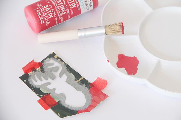 DIY handmade postales navidad chritsmas martha stewart pinturas acrílicas