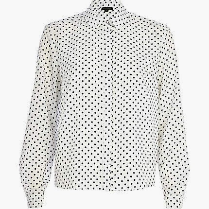 white spotty shirt