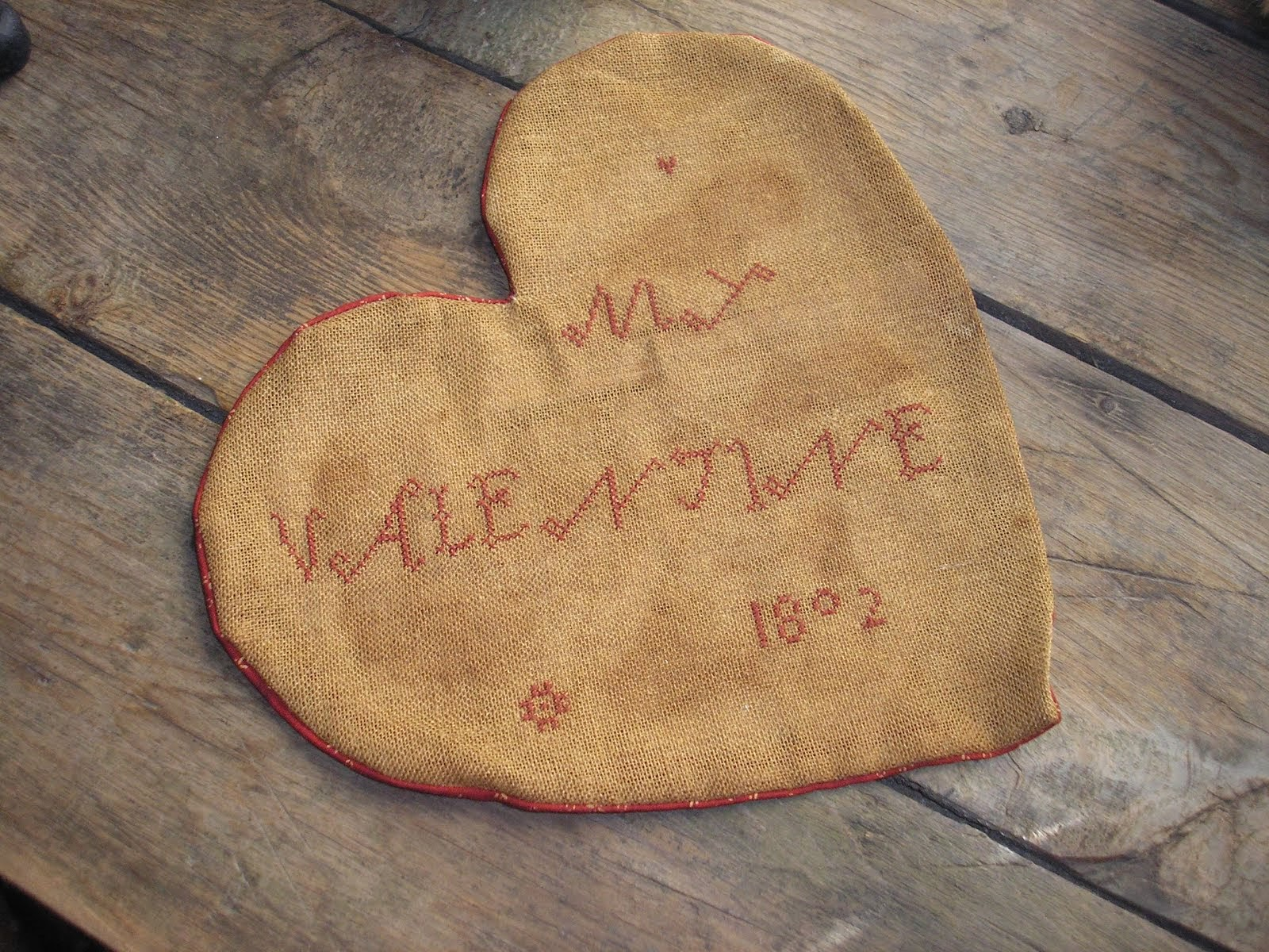 My Valentine 1802 Heart Sampler