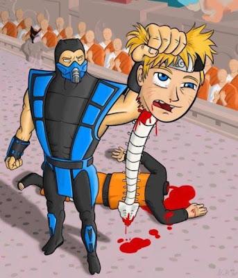 Sub-Zero da FATALITY em Naruto!