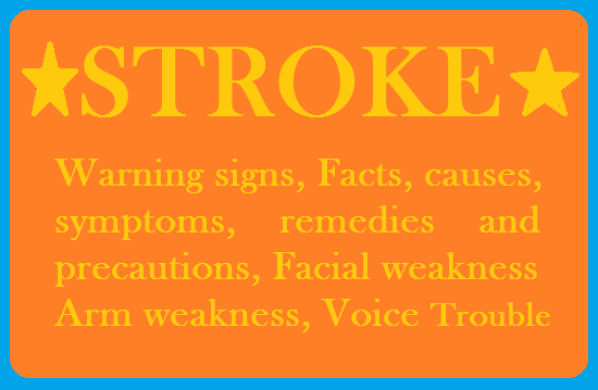 Stroke-Facts, causes, symptoms, remedies and precautions