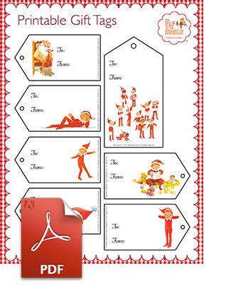 Elf on the Shelf Gift Tags | www.elfontheshelf.com
