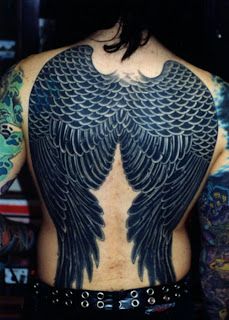 great angel wing tattoos for women