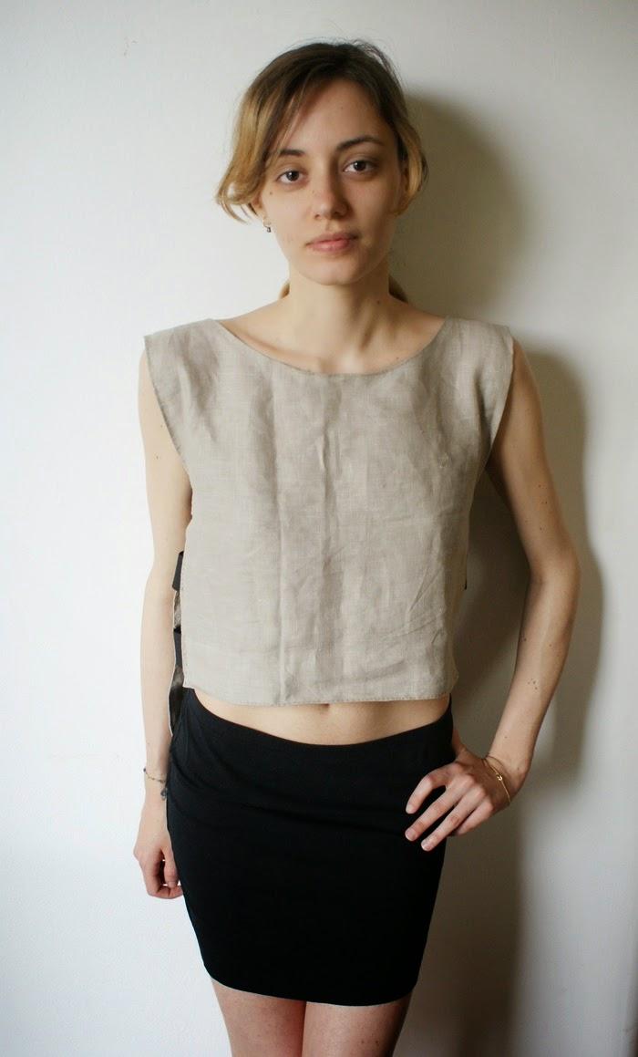 crop top cutout diy outfit