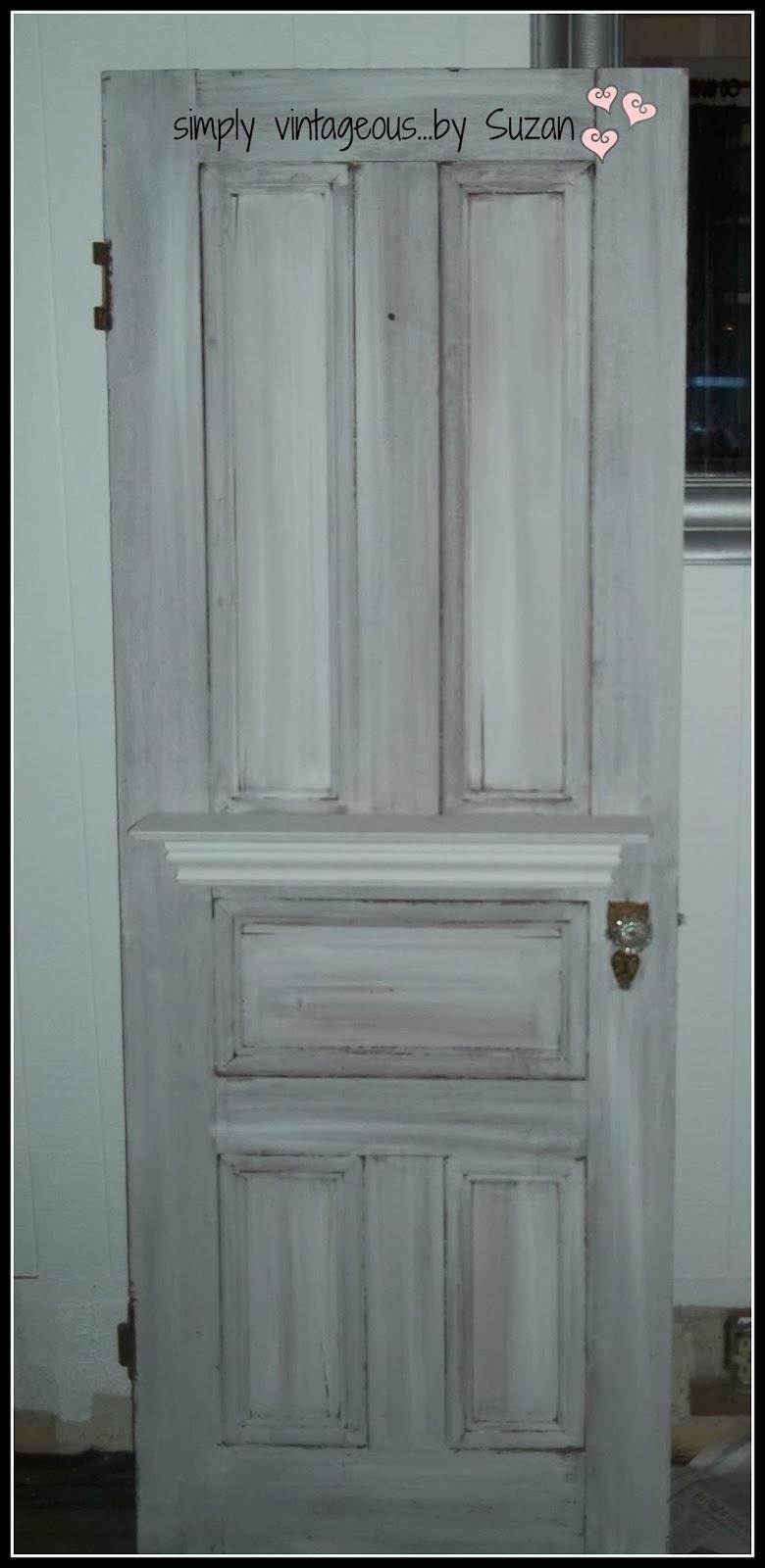 Adding a shelf to a vintage door
