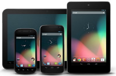Smartphones and Tablets with Android 4.3 Jelly Bean