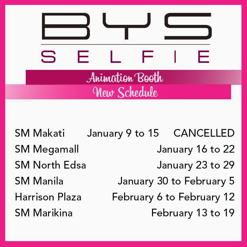 bys selfie schedule