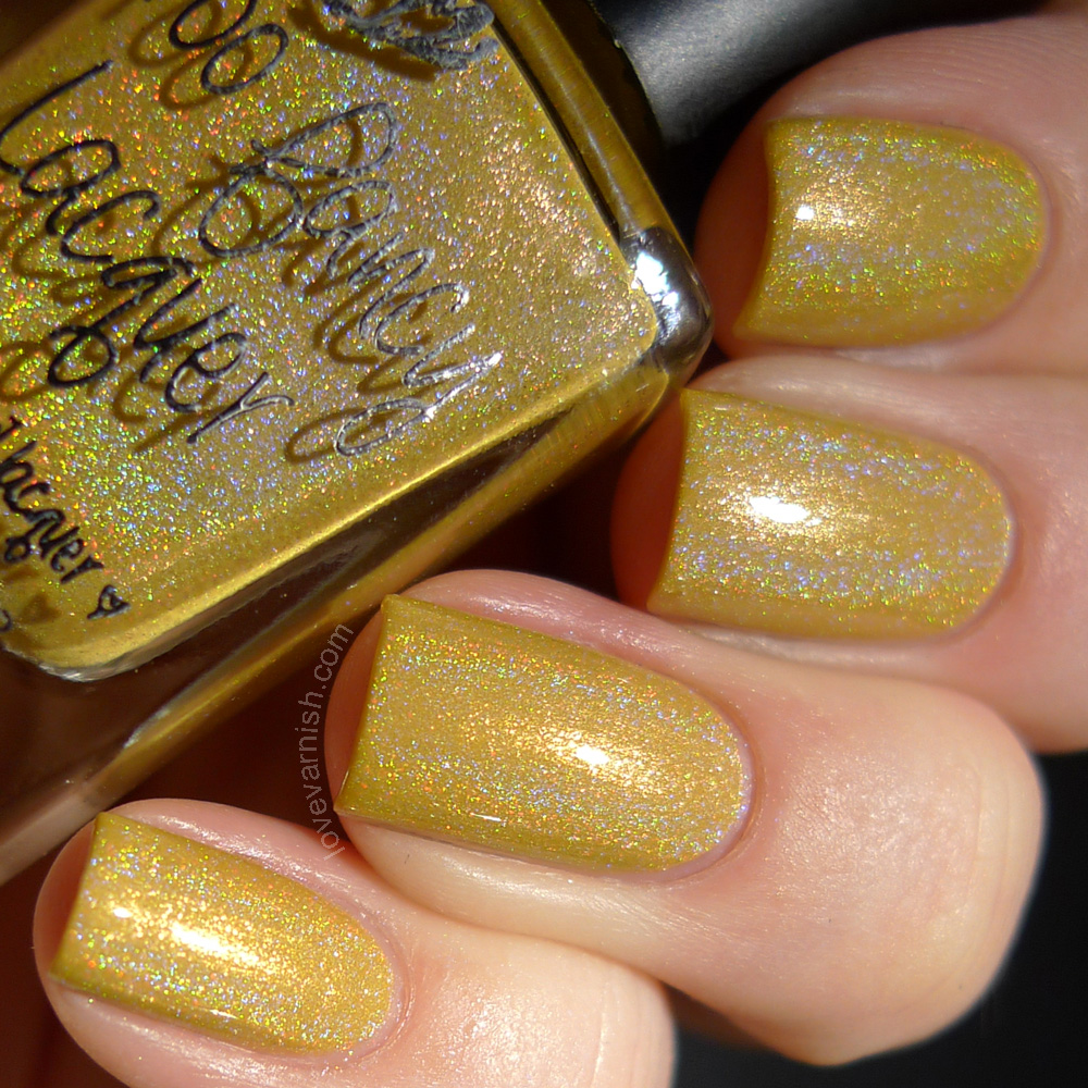 Too Fancy Lacquer Call Me Queen Bee yellow holo