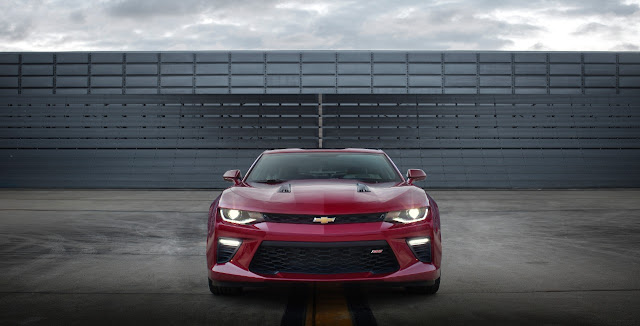 2016 Chevrolet Camaro SS red front