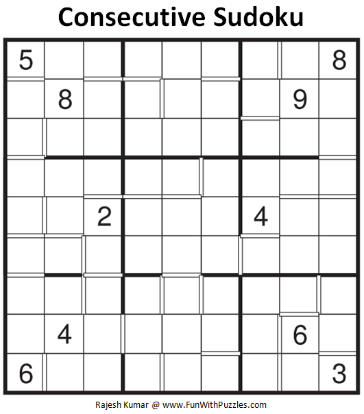 Consecutive Sudoku (Fun With Sudoku #113)