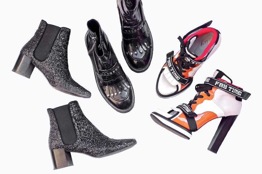 stivaletto glitter nero zara, ash italia stivali, scarpa fay con tacco stringata ss 15