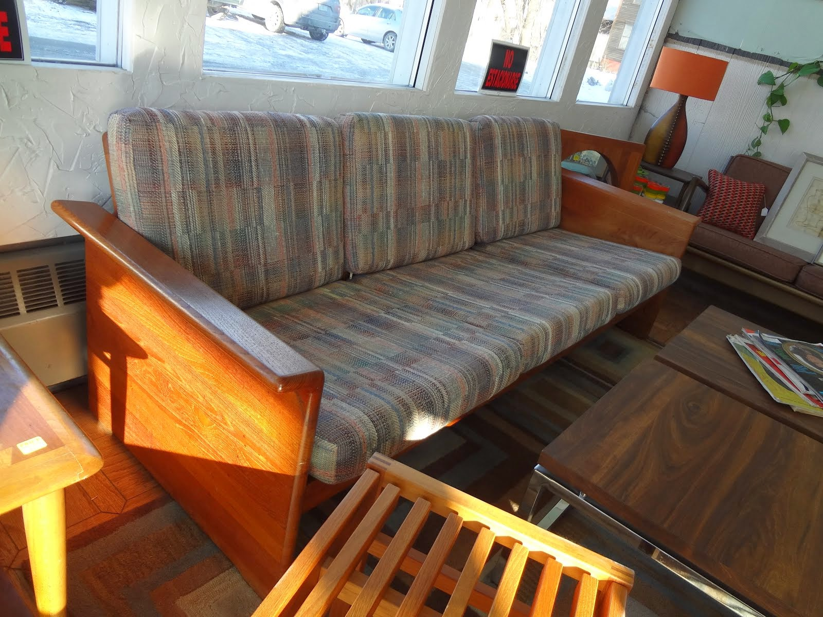 Danish modern sofas, chairs & end tables
