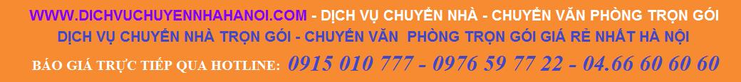 Dịch vụ chuyển nhà - Chuyển văn phòng trọn gói Phát Đạt 0915 010 777 - 04.66 606060 - 0976 59 77 22