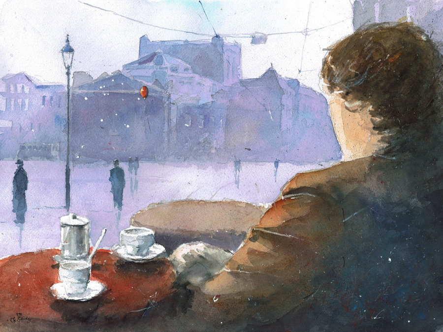 20-Cafe-with-the-view-on-theatre-Grzegorz-Chudy-sanderus-Dreams-Started-with-Watercolor-Paintings-www-designstack-co