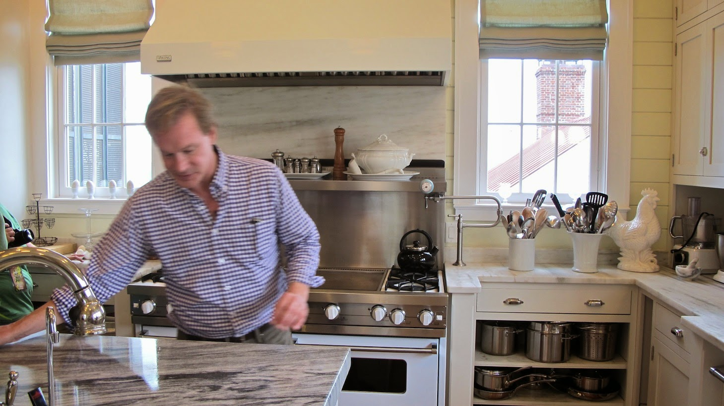 P Allen Smith Moss Mountain Garden Home kitchen shot touching marble (c)nwafoodie