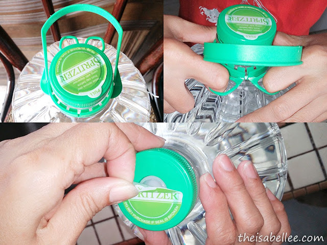 How to open the seal on Spritzer bottle