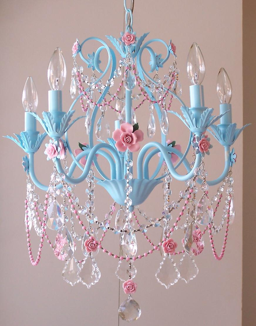 classy craft idea paint an old chandelier a soft aqua blue and drape with inexpensive pink beaded necklaces from a discount or dollar store background pink chandelier