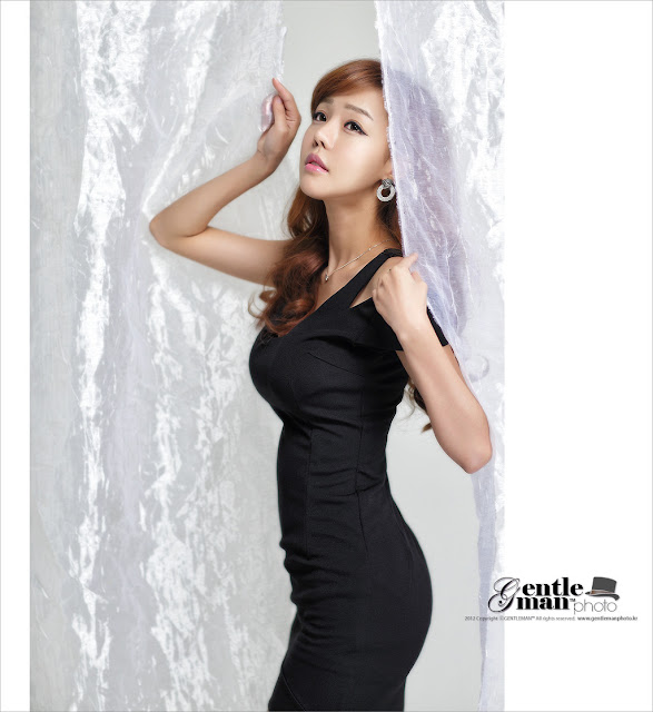 5 Seo Jin Ah in Black-Very cute asian girl - girlcute4u.blogspot.com