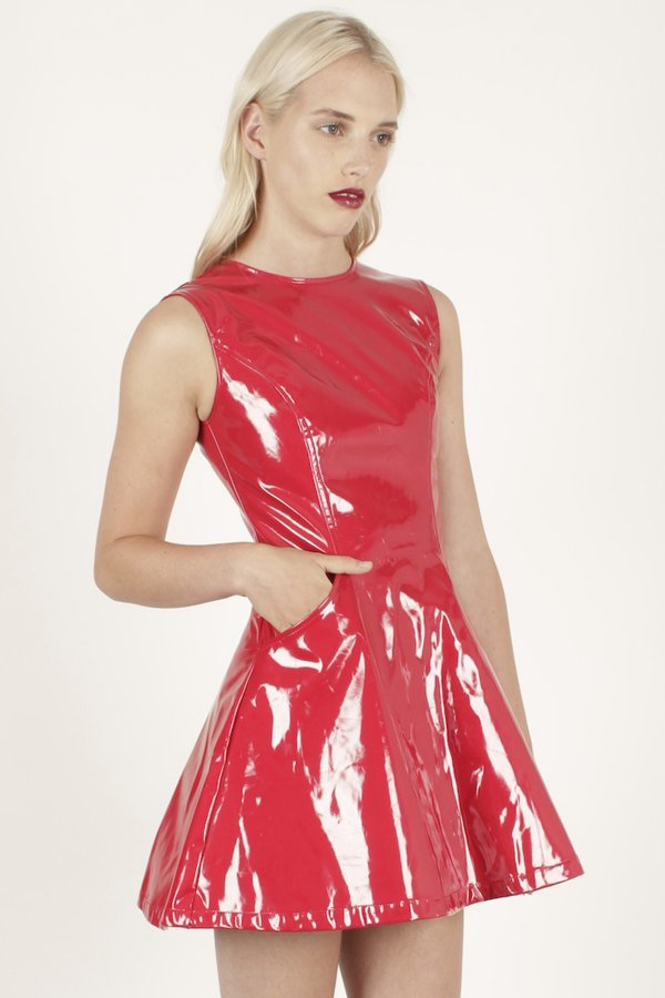 Pvc And Plastic Dresses : Stonesgotstyle one dress three ways styling pvc