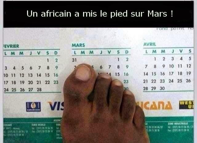 L'afrique explore la planète Mars