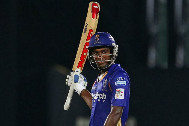 Sanju-Samson-Rajasthan-Royals-vs-Perth-Scorchers-M15-CLT20-2013