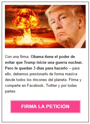 Antes de que Trump empiece una guerra nuclear