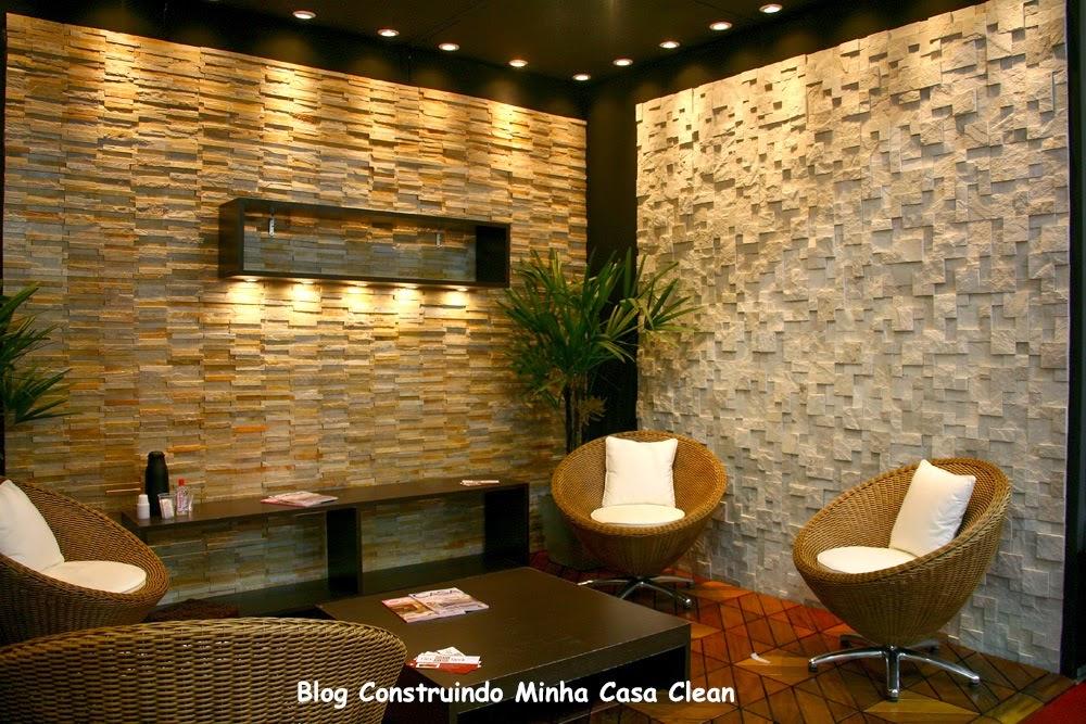 Construindo minha casa clean paredes com pedras - Paredes decorativas interiores ...