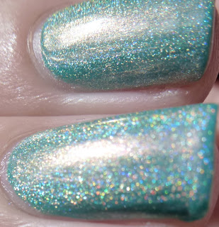 DS Sapphire swatch, OPI, Four Leaf Clover swatch, China Glaze