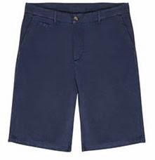 Blue Linen & Cotton Shorts