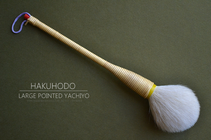 Hakuhodo Large Pointed Yachiyo Cheek Blush - Japanese Traditions Makeup Brush - Review